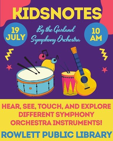 Kids Notes at the Rowlett Public Library July 19