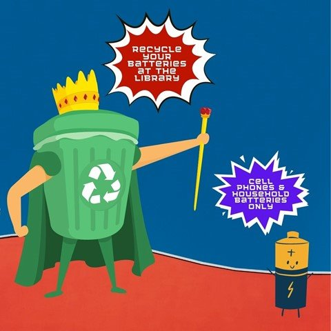 Recycle batteries at the Library now!