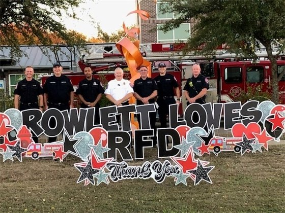 Rowlett Fire Department gets some LOVE!