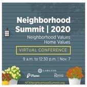 Neighborhood Summit 2020: Neighborhood Values, Home Values