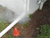 Smoke Testing on Wastewater Lines in Rowlett