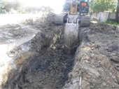 Working on Sanitary Sewer Line