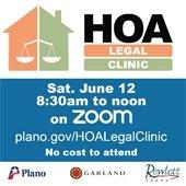 HOA Legal Clinic, Saturday, June 12