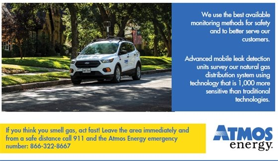 Atmos Energy Safety Survey: October 11-16