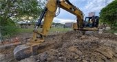 Crew Digging at Southridge Alley