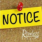 Rowlett Notice