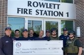 Rowlett Police Officers Association Donates to Rowlett Firefighters Association