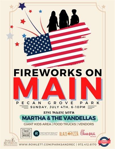 Fireworks on Main - Sunday, July 4