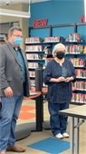 Long time Library employee retires