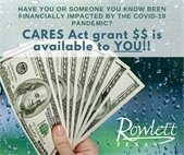 CARES Act grant available until October 31