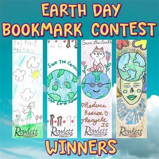 Earth Day Bookmark Winners