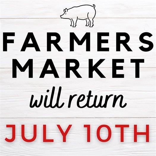 no Farmers Market on July 3