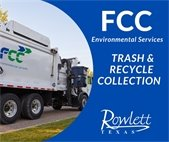FCC Trash and recycle collection