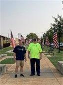 Flags at Veterans Park