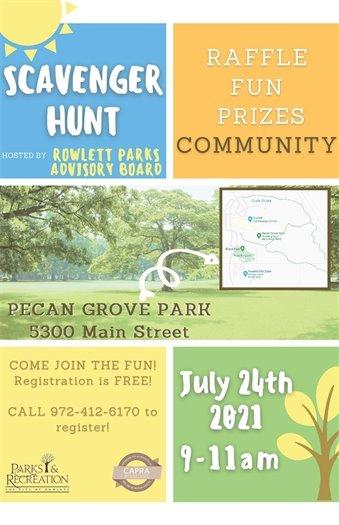 Scavenger Hunt for Parks & Rec Month