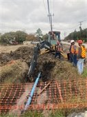 Water Main Replacement on Chiesa Rd