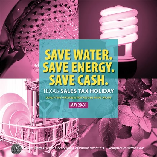 ENERGY STAR and Water-Efficient Products Sales Tax Holiday - May 29-31