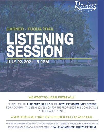 Garner - Fuqua Trail Listening Session July 22, 6-9pm