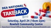 National Prescription Take Back Day Saturday, April 24