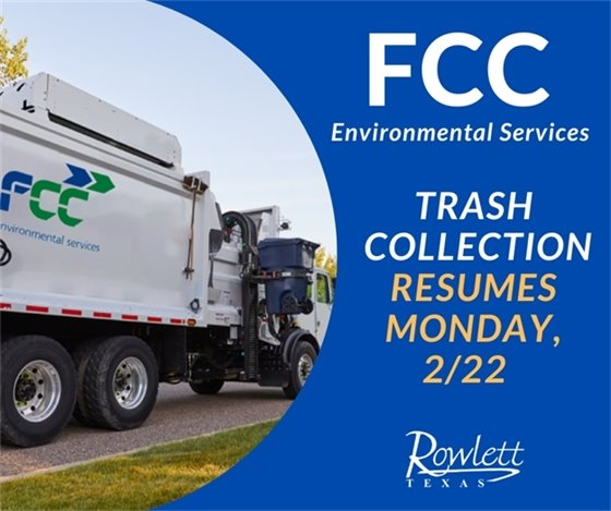 FCC Resumes Trash Collection on February 22