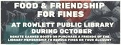 Food & Friendship for Fines