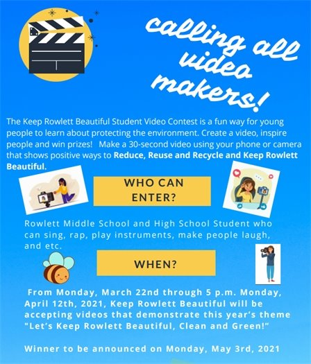 Keep Rowlett Beautiful Video Contest