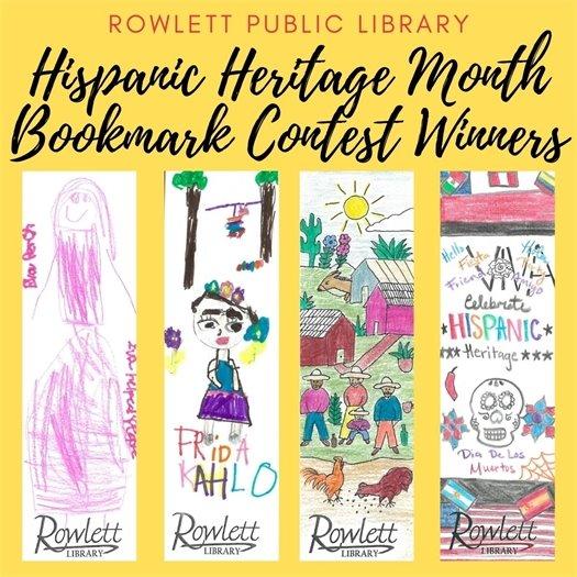 Hispanic Heritage Month Bookmark Contest Winners