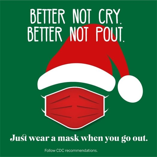 Wear a mask when you go out