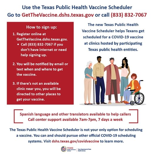 How to sign up using Texas Public Health Vaccine Scheduler