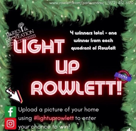 Light up Rowlett