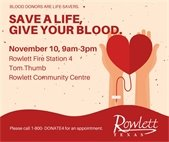 Rowlett Blood Drive - November 10