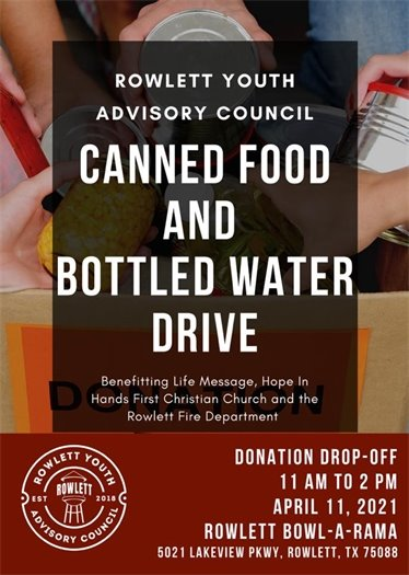 Canned Food & Water Drive