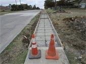 Sidewalk reinstallations continue on Miller Rd