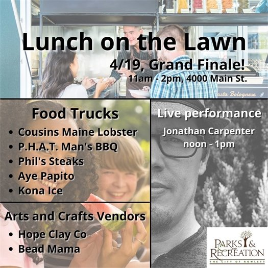 Lunch on Lawn for April 19