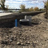 Force main sewer system installation