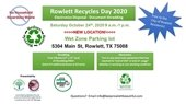 Rowlett Recycles Day 2020