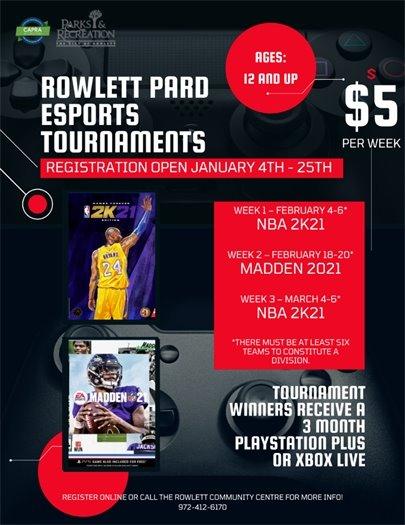 Rowlett PARD ESports Tournaments