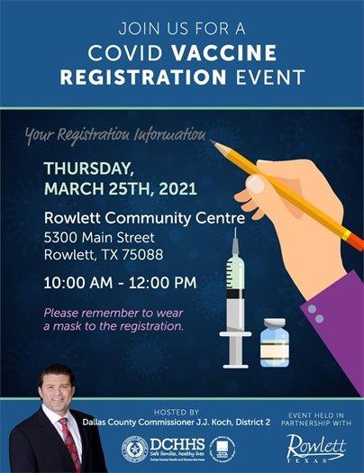 COVID Vaccine Registration Event