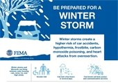 Be Prepared For A Winter Storm by FEMA