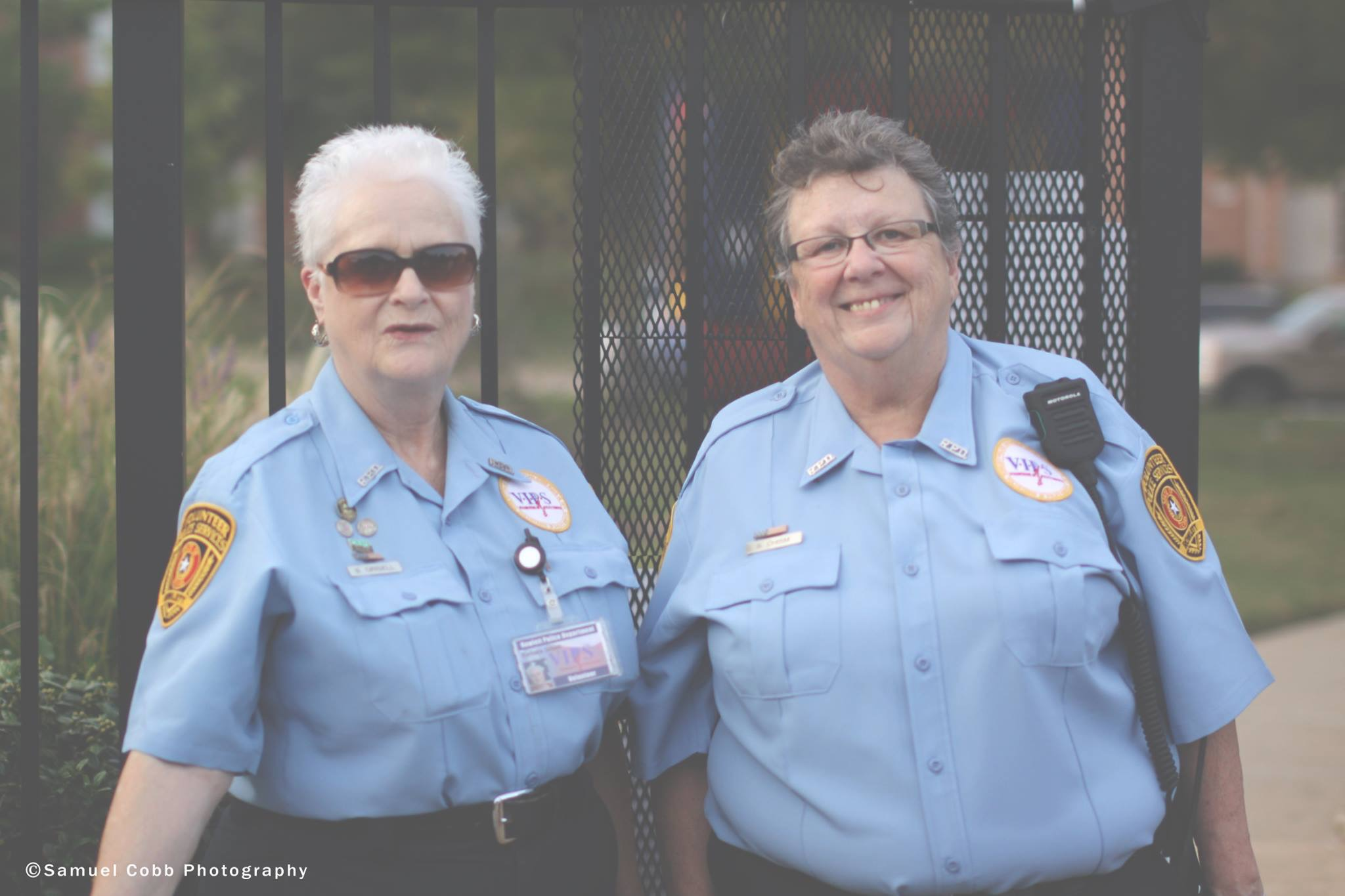 Two female police officers in uniform