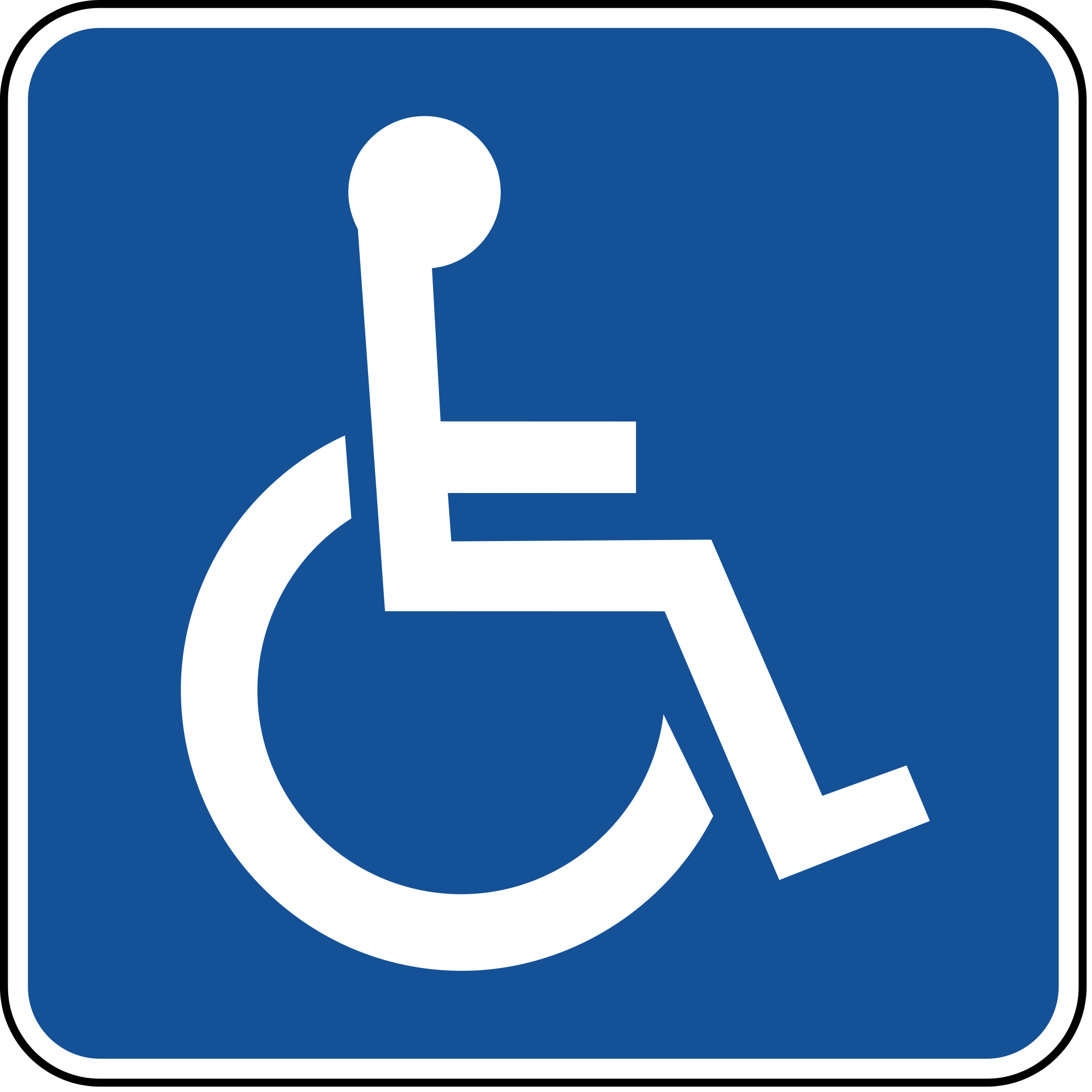 handicap parking sign in blue