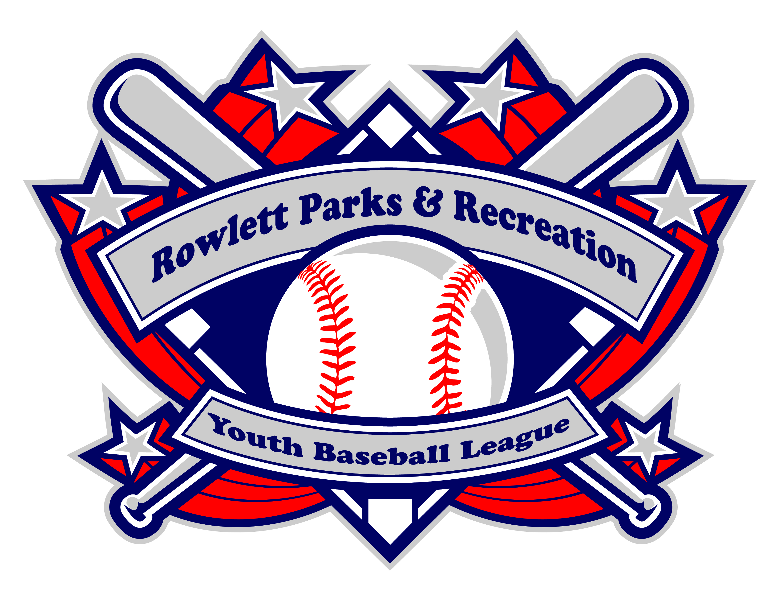 Rowlett Parks and Recreation Youth Baseball League crest