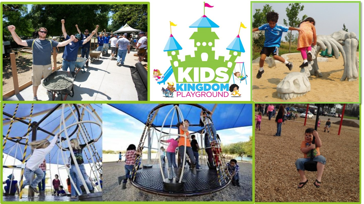 Collage of playground images