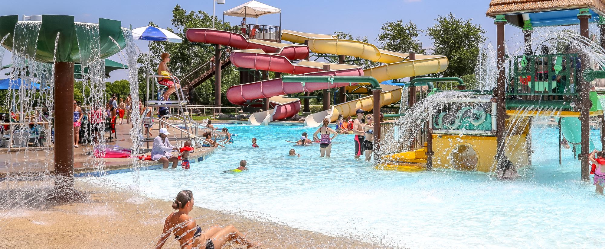 Children enjoying the Wet Zone Waterpark