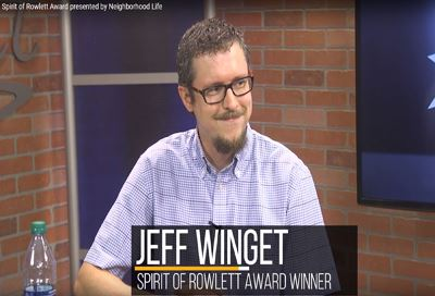 Jeff Winget sitting at a desk