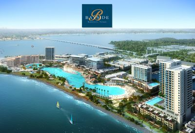 Bayside rendering with logo