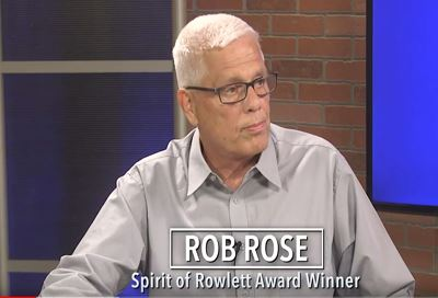 Rob Rose being interviewed