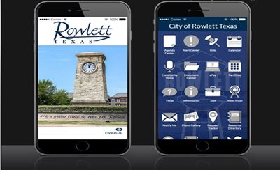 iPhone showing City of Rowlett App