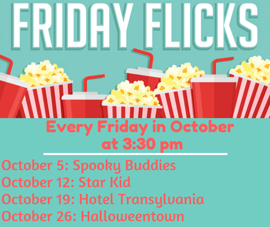 Friday Flicks-October-Monthly List for MailChimp