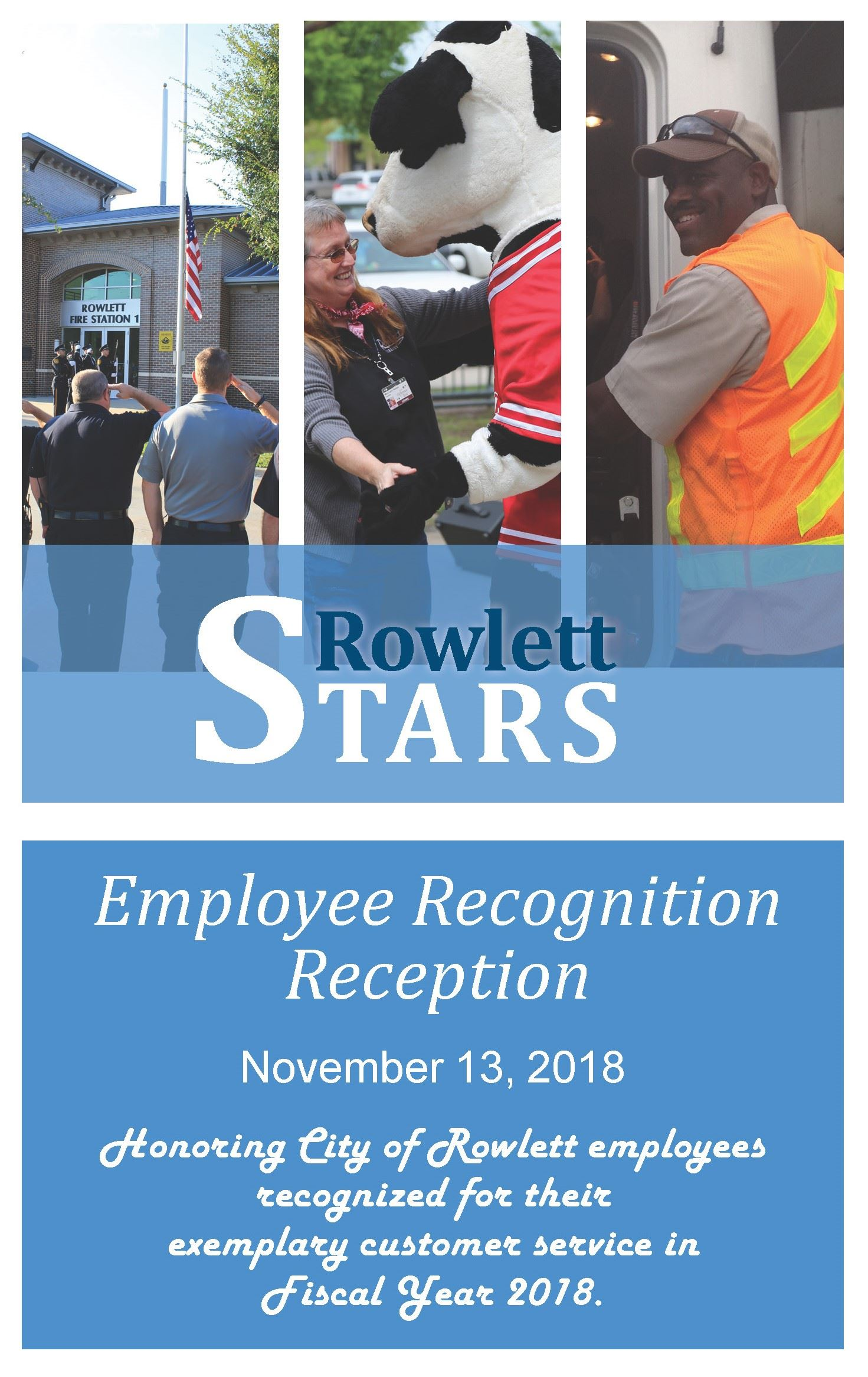 Cover of Employee Recognition Reception handout